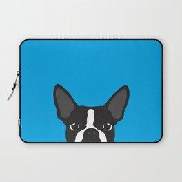 Boston Terrier Blue Laptop Sleeve