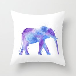 Watercolor Elephant Throw Pillow