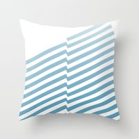 bands Throw Pillows featuring Blue Bands by blacknote