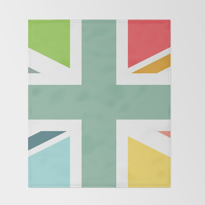 Multicoloured Union Jack Throw Blanket