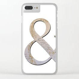 French Ampersand Clear iPhone Case
