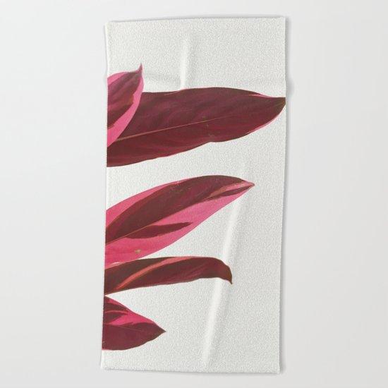 Red Leaves I Beach Towel