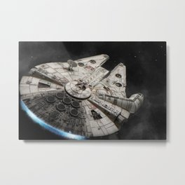 Flight of the Falcon Metal Print