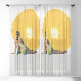 sunbathing Sheer Curtain
