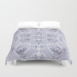 Full Kaleido Pale Blue Wildflowers Duvet Cover