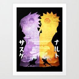 Minimalist Silhouette Rival Art Print