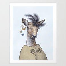 Fashion deer Art Print
