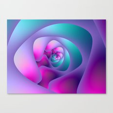 Spiral Labyrinth in Blue and Pink Canvas Print
