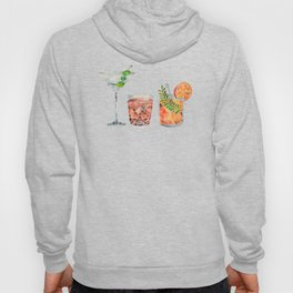 Classic Cocktails  – 1960s Watercolor Lineup Hoody