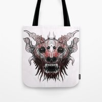 beast Tote Bags featuring Beast by WES EXOTIC IMAGERY