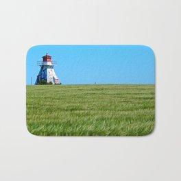 Lighthouse and the Crop Field Bath Mat