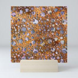 Copper bubbles- watercolor seamless geometric print Mini Art Print