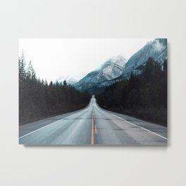 Highway Mountains Metal Print