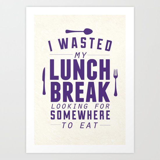 Lunch Art Print