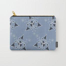 3 Petal Flower Pattern Carry-All Pouch