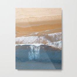 Ocean Waves   Aerial Beach Photography  Metal Print