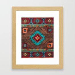Bohemian Traditional Southwest Style Design Framed Art Print