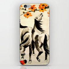horses under floral tree iPhone & iPod Skin
