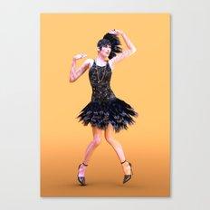 Flapper Dancing Canvas Print