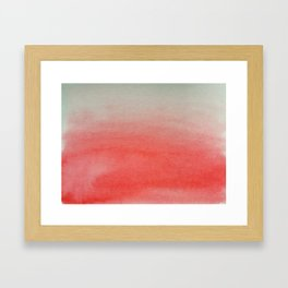 Ombre Watercolor red Framed Art Print