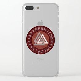 Valknut | Viking Warrior Symbol Triangle Clear iPhone Case
