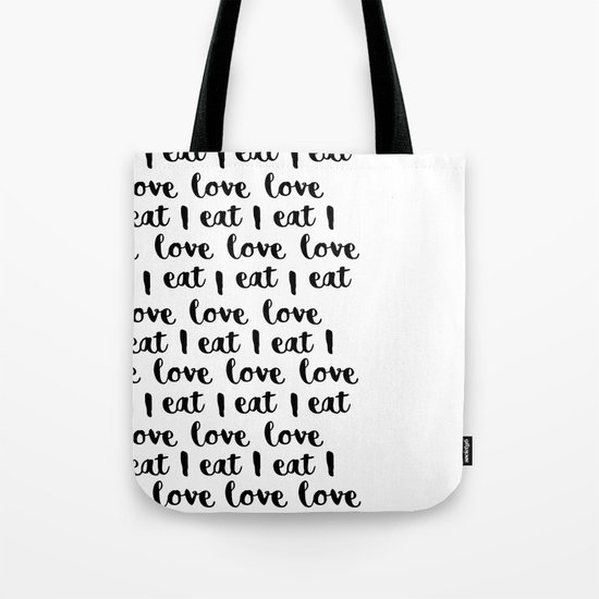 I love eat pattern 2 Tote Bag