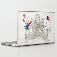 kris tate Laptop & iPad Skins featuring ECHOES by Peter Striffolino and Kris Tate by Peter Striffolino