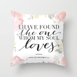 Song of Solomon 3:4 Throw Pillow