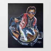 marty mcfly Canvas Prints featuring MARTY MCFLY by John McGlynn