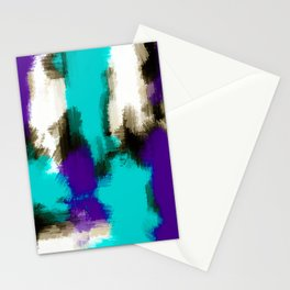 purple blue and black painting texture with white background Stationery Cards
