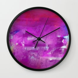Purple paint! Wall Clock