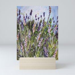 LAVENDER SPLASHES - Original abstract floral painting by HSIN LIN / HSIN LIN ART Mini Art Print