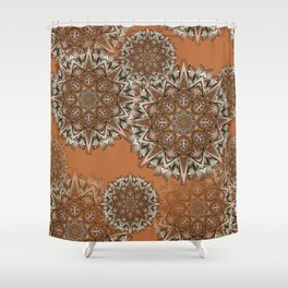 Baals - Flowing mandalas B of Alphabet collection Shower Curtain