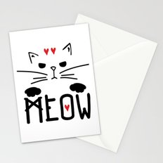 MEOW MEOW MEOW ON Stationery Cards