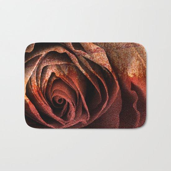Bleeding Rust Rose Bath Mat