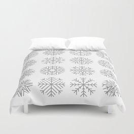 minimalist snow flakes Duvet Cover