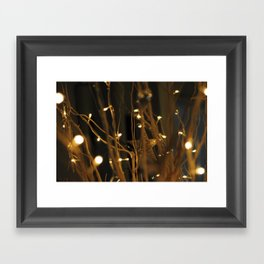 Stars and Lights Framed Art Print