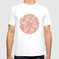 floral party Mens Fitted Tee MEDIUM White