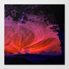 Fiery fractal sunset Canvas Print