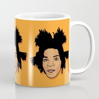 basquiat Mugs featuring Young Basquiat by TheMohamz