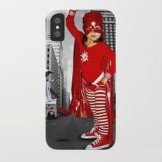 Candy Cane Girl Slim Case iPhone X