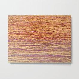 Sunset Over Water III Metal Print