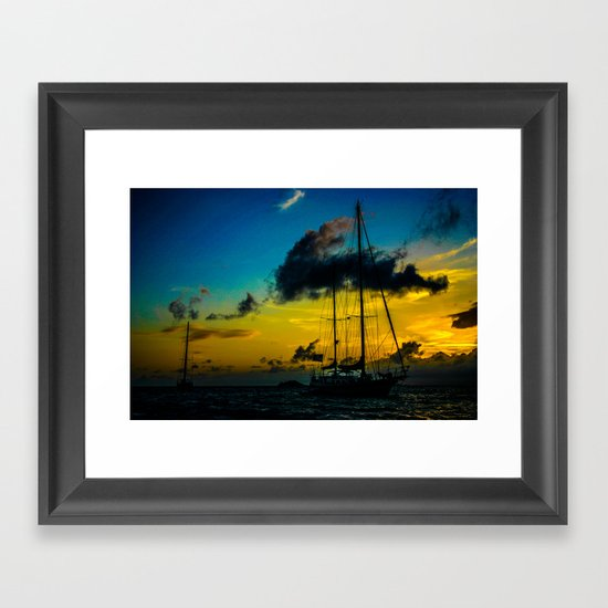 Lines set for the night Framed Art Print