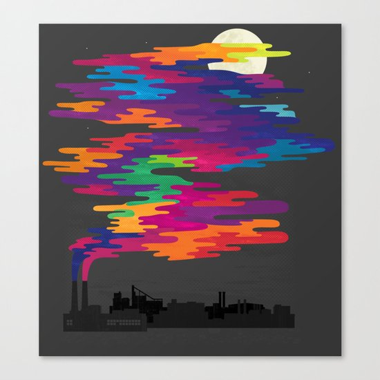 Hidden in the Smog (Night) Canvas Print