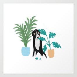 Plant Eating Doggo Art Print