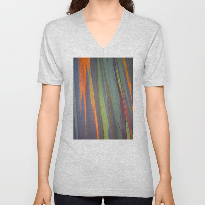 Rainbow Eucalyptus Magic Unisex V-Neck