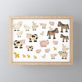Farm Animals Framed Mini Art Print