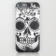 Black and white Skull Slim Case iPhone 6s
