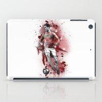 ronaldo iPad Cases featuring Cristiano Ronaldo - Portugal by Hollie B