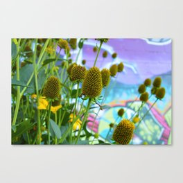 Graphic Weed Canvas Print